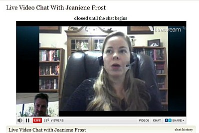 Jeaniene F live chat